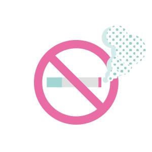 ゴルフ練習場内は全面禁煙